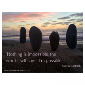 Nothing is impossible, the word itself (1)